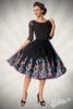 Premium Vintage Swing Dress with Embroidery