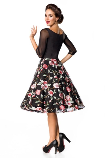 Belsira Premium emboidered vintage Swing-Dress