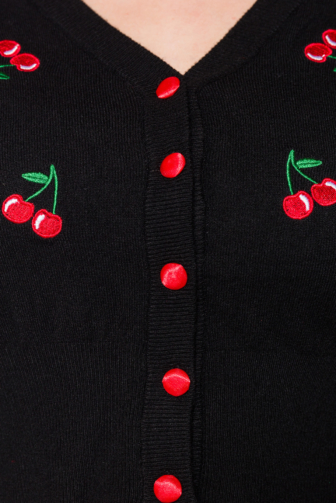 Vintage Cardigan with cherry pattern